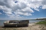Ein Kloster mit Vordergrund (Boot)...