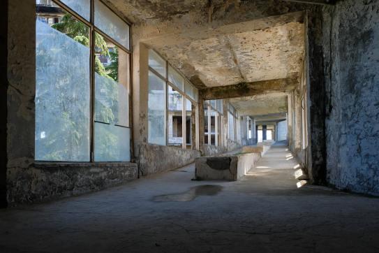 Wandelgang im Sanatorium