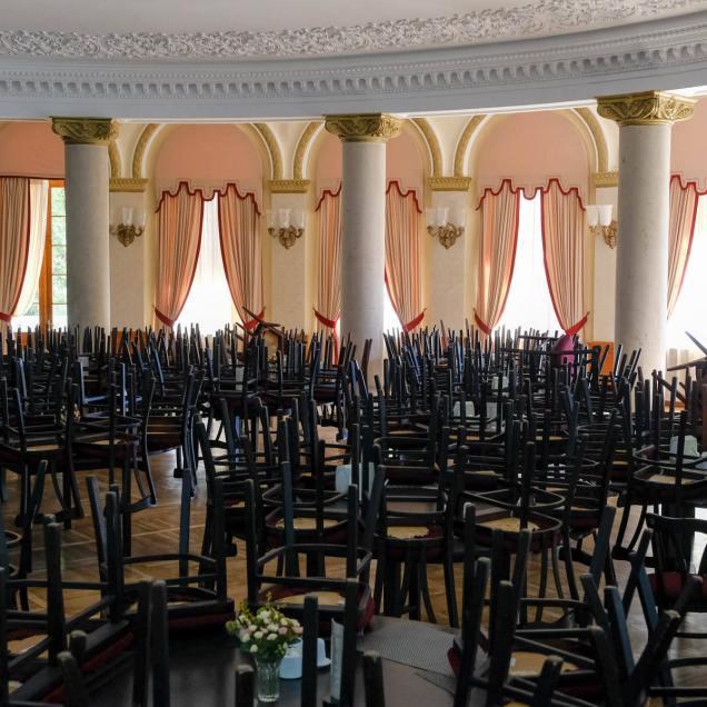 frisch renoviertes Restaurant