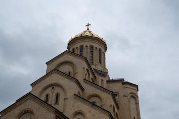 Die größe orthodoxe Kirche im Kaukasus