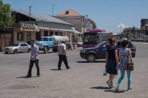 Straßenszene in Gyumri