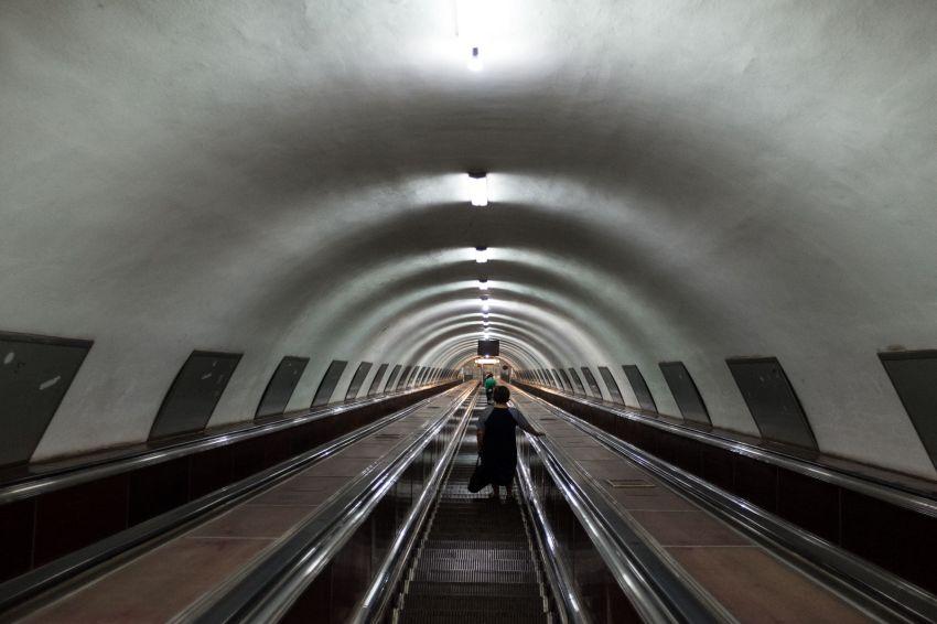 Kein Time-tunnel, nur der Eingang zur Metro