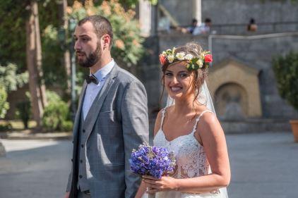 Das georgische Brautpaar... lebt übrigens in Hamburg...