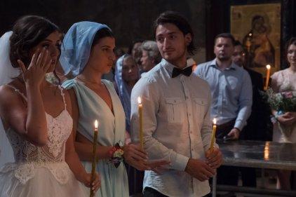 Braut mit Trauzeugen