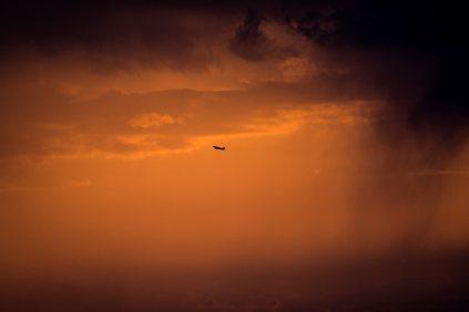 Flugzeugsuchbild - da braut sich etwas zusammen
