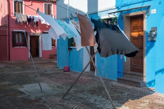 Große Wäsche auf Burano