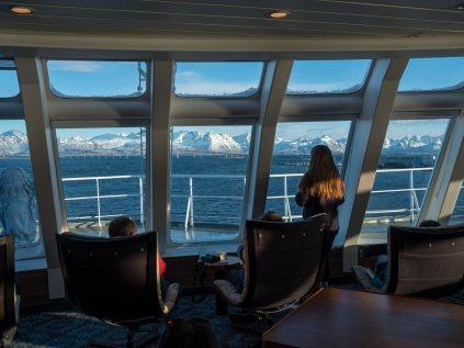 Auch vom Panoramadeck aus lässt sich die Aussicht genießen