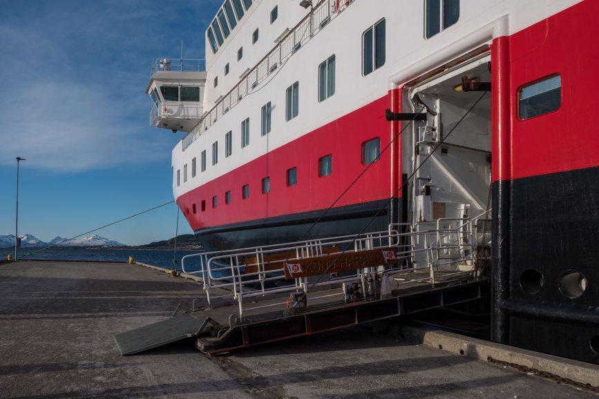 Auf geht's an Bord der M/S Kong Harald