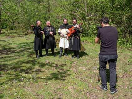 Bräutigam mit Männerchor