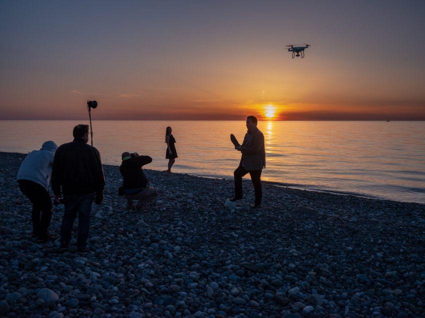 Romantik mit Drohne