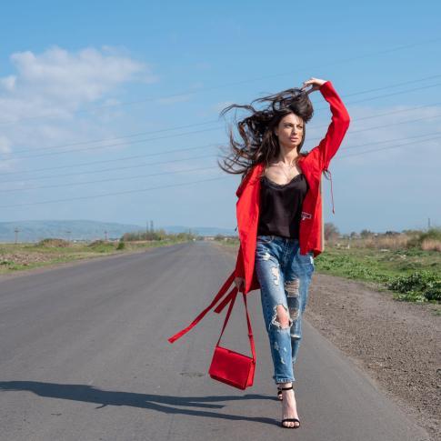 Mariam walking