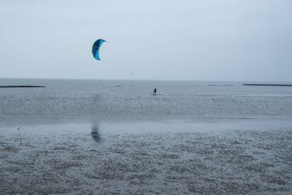 Die Nordsee bei Meldorf bei ablaufendem Wasser