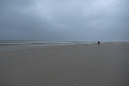 St.Peter Ording - Lasha allein am Strand