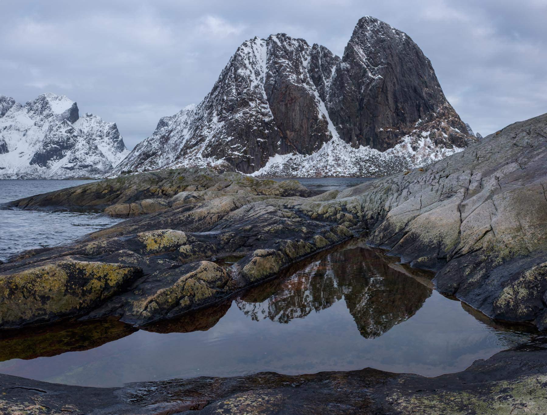 Hamnøy aus untypischer Perspektive
