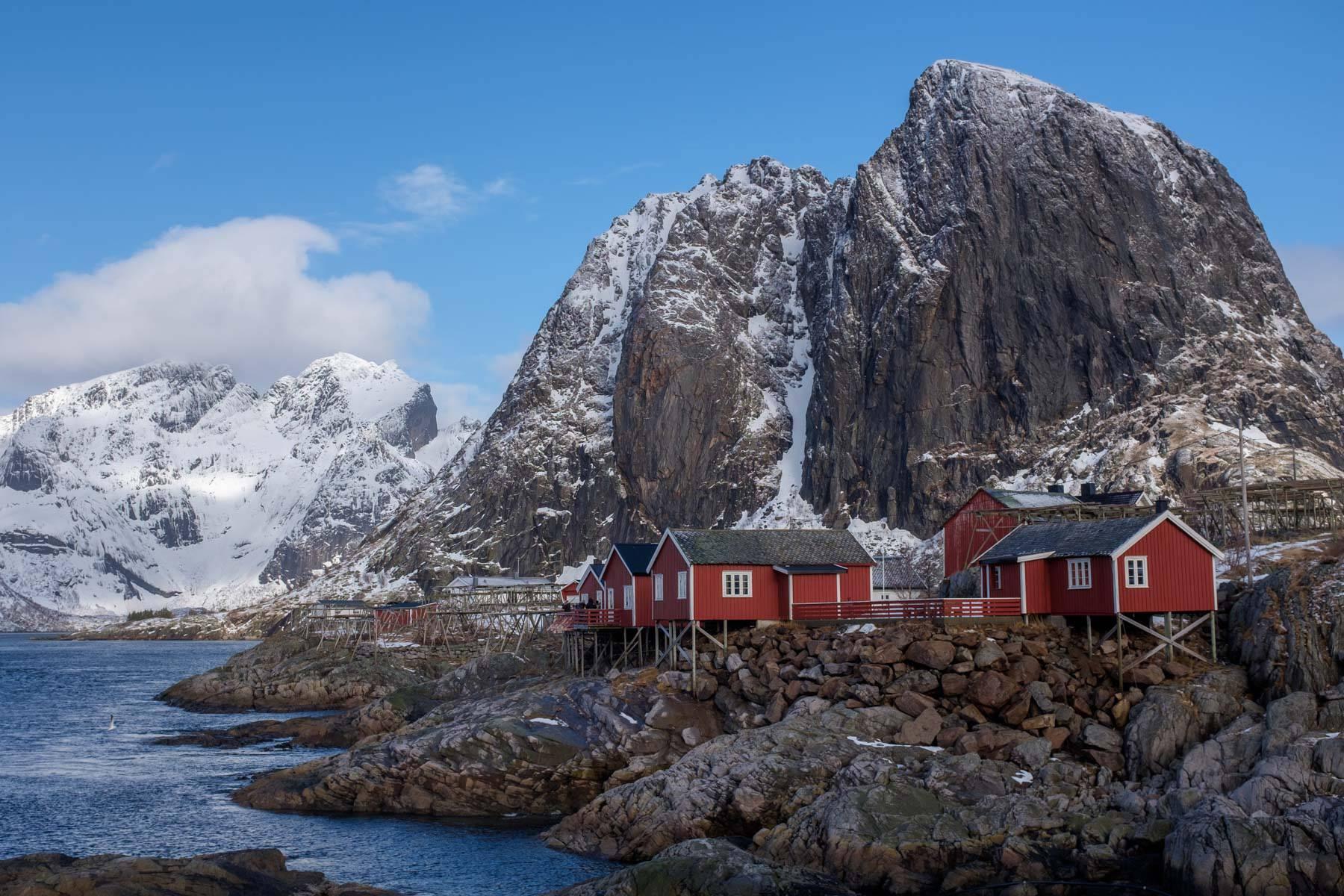 Hamnøy aus mehr typischer Perspektive