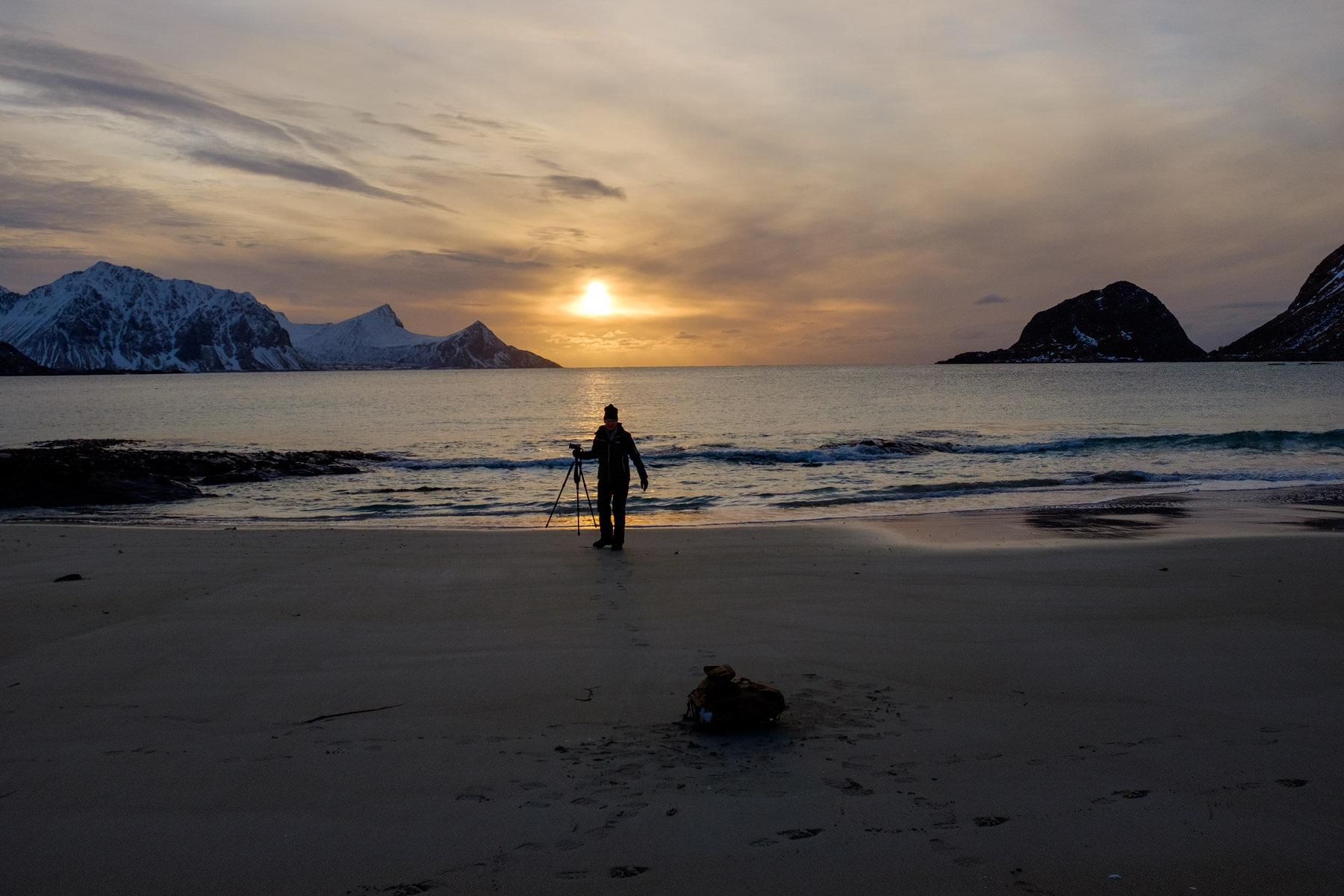 Sonnenuntergang - Fotograf hat fertig