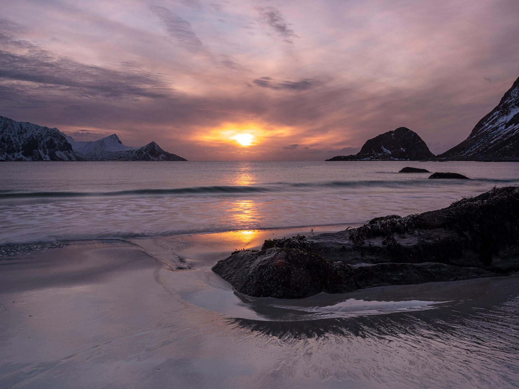 Sonnenuntergang in Haukland